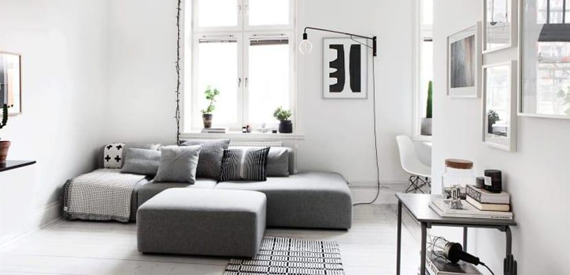 Sala en blanco y negro