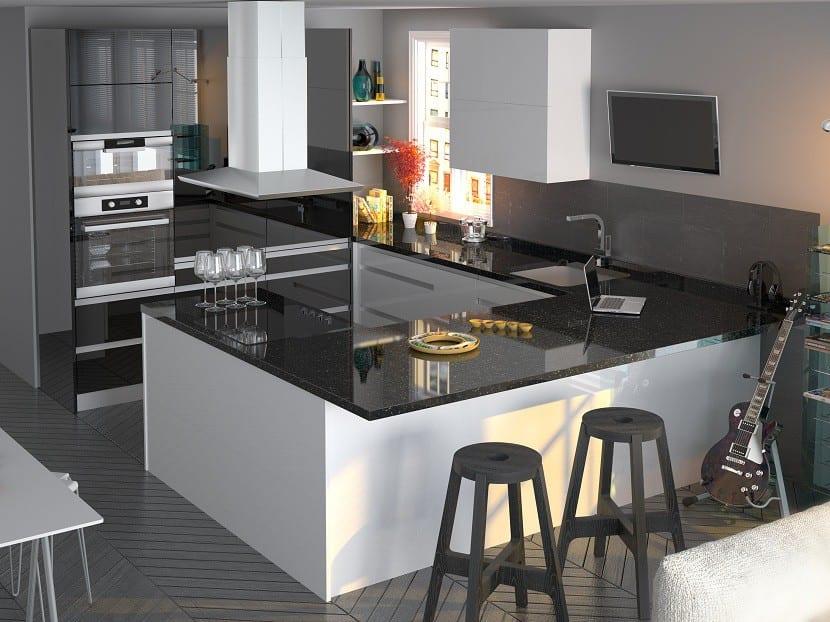 Ideas para usar taburetes en la cocina - Cocinas con estilo moderno ...