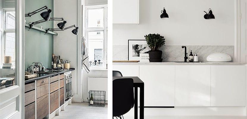 Flexos de pared en la cocina