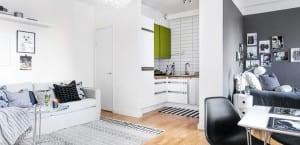 Mini piso en estilo nórdico