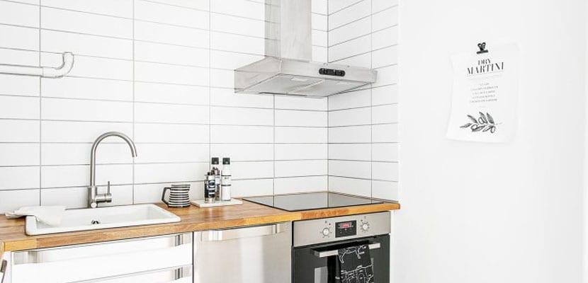 Cocina en un mini piso
