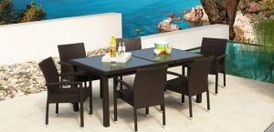 Muebles de jardín Leroy Merlín en color negro