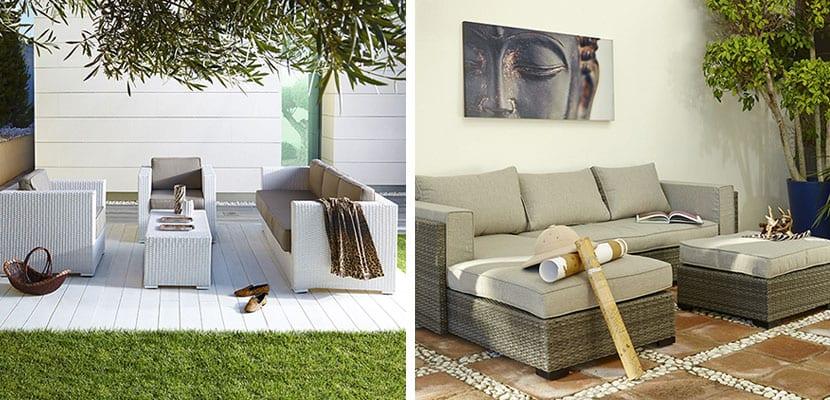 Nueva colecci n de muebles de jard n leroy merl n for Sofa exterior leroy