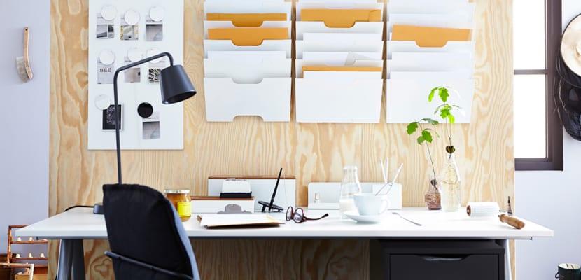 Aprovechar las paredes en la oficina