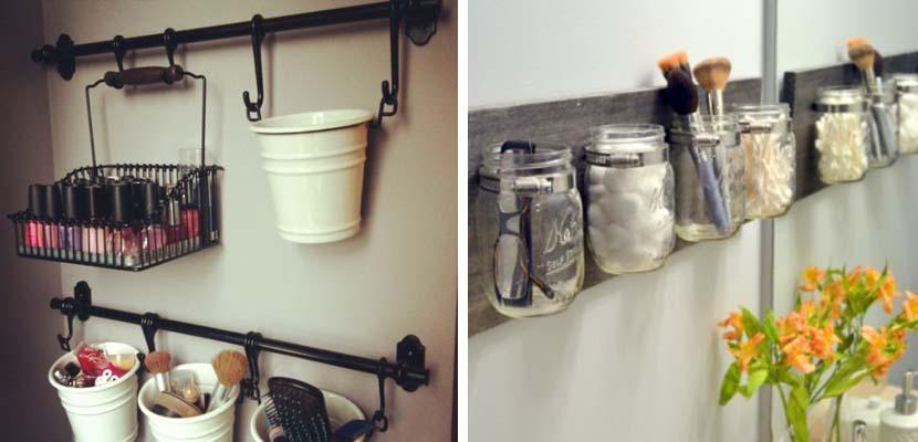 Organizar los cosméticos en el baño
