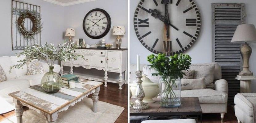 Inspiraci n en salones con estilo vintage - Relojes para salon ...