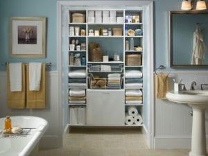 La organización en el baño, decoración y hogar