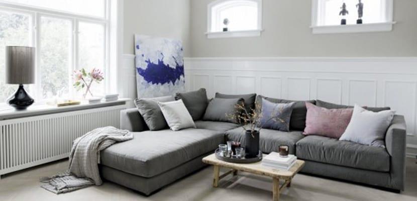 Tipos de sof s para decorar el sal n - Decorar pared sofa ...
