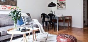 Apartamento estilo vintage y nórdico