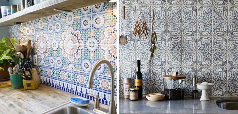 Azulejos tipo mosaico para la cocina un estilo original - Azulejos para mosaicos ...