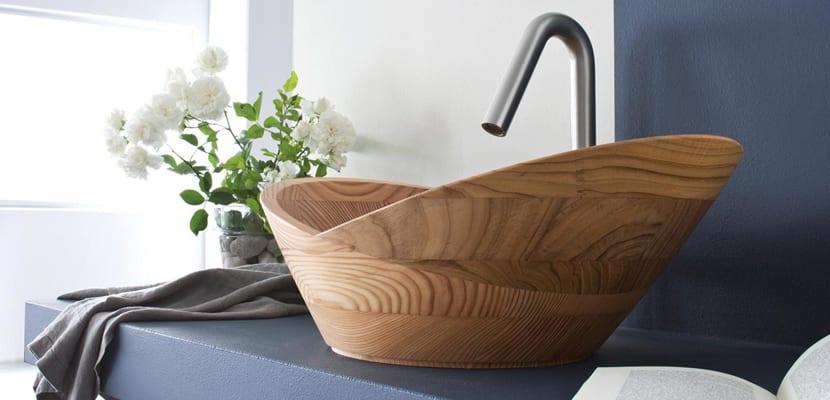 Lavabo en madera