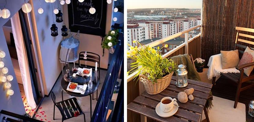 Balcón con comedor