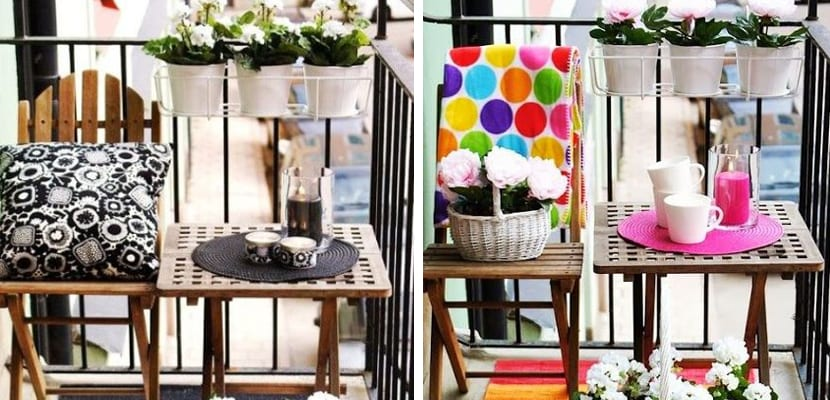 Balcón pequeños con distintos estilos