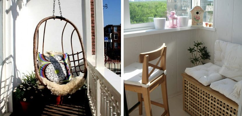Aprovechar un balc n peque o para el verano for Muebles para balcon exterior pequeno