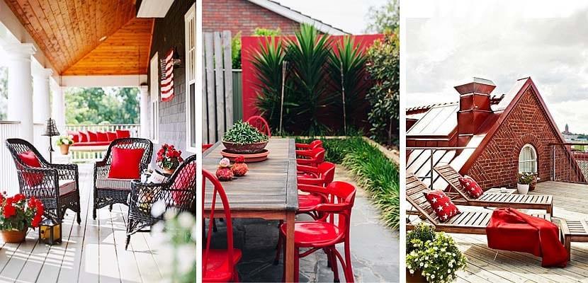 Balcones y patios rojos