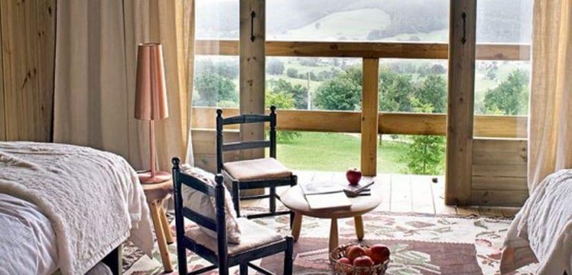 Vistas de casa de madera