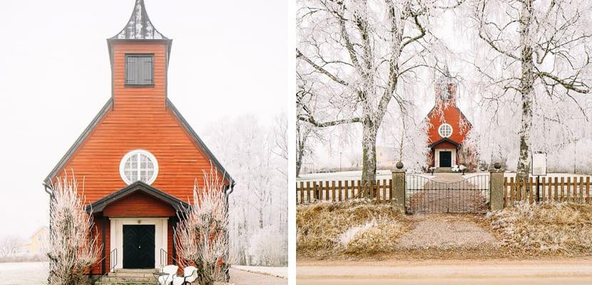 Iglesia convertida en casa vintage