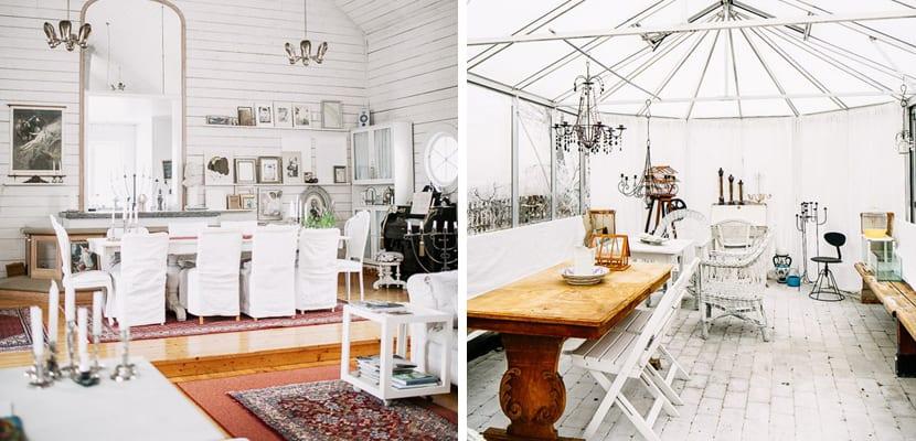 Comedor y terraza vintage