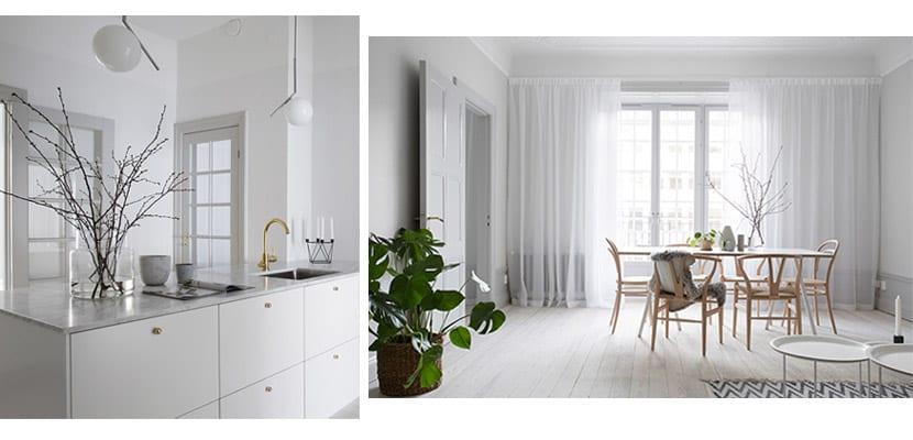 Casa sobria en blanco y gris