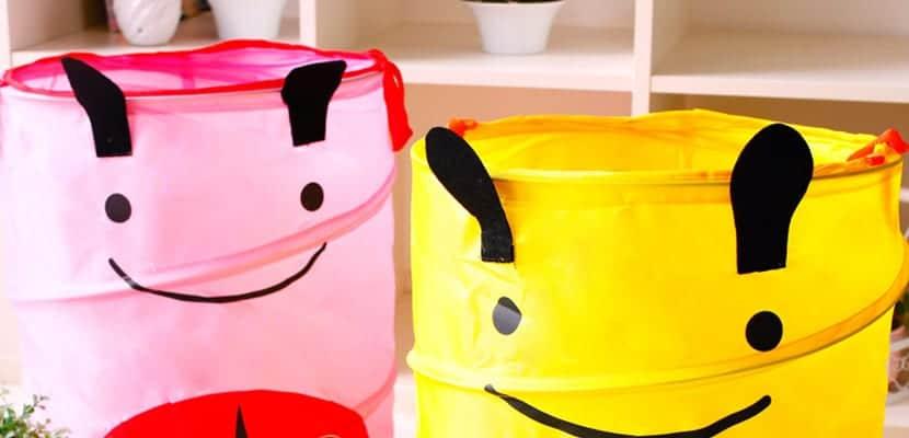 Almacenar juguetes en cestos