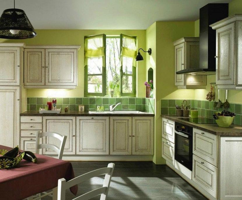 El color verde en la cocina - Como decorar tu cocina ...