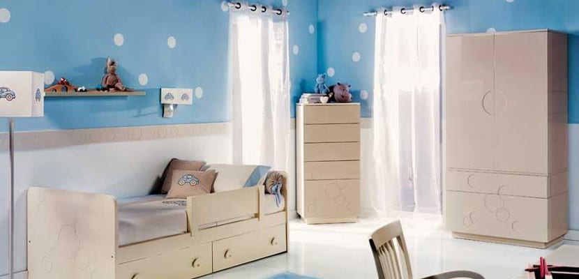 Dormitorio infantil en color azul
