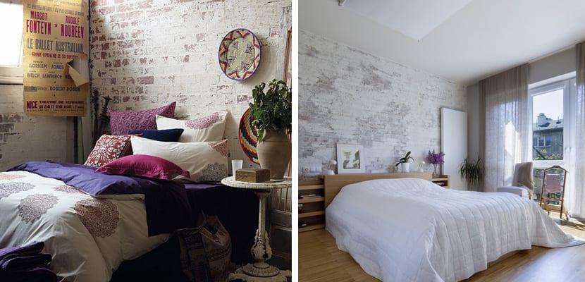 Decora El Dormitorio Con Paredes De Ladrillo Blanco - Decorar-pared-habitacion