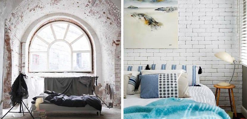 decora el dormitorio con paredes de ladrillo blanco - Pared Ladrillo Blanco
