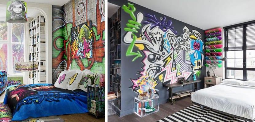 Graffitti en el dormitorio