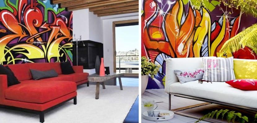 Graffittis coloridos
