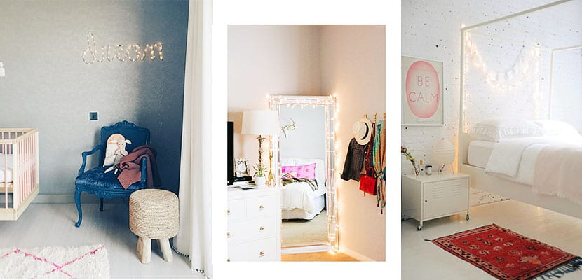 Ideas para decorar tu dormitorio con guirnaldas de luz for Ideas para decorar tu dormitorio