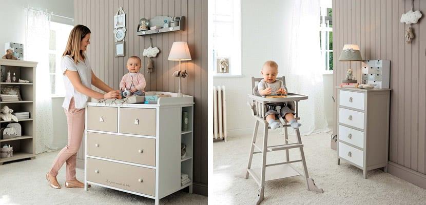 Habitaciones de bebé en tonos ocre