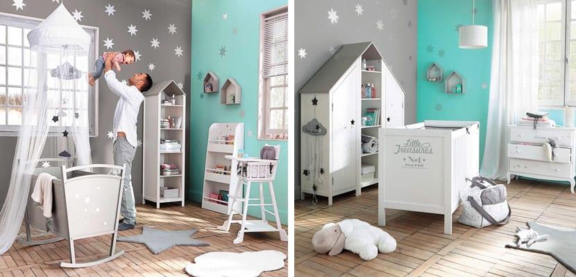Habitaciones de bebé con toques de color