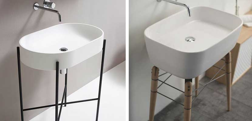 Lavabo original en estilo minimalista