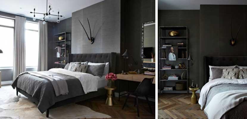 Dormitorio con estilo masculino
