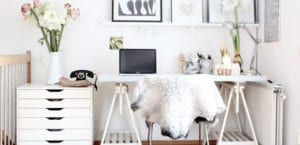 Oficina estilo nórdico
