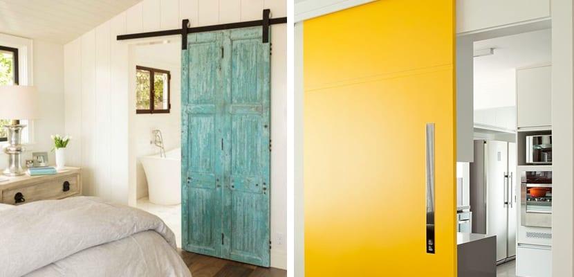 Puertas correderas de colores
