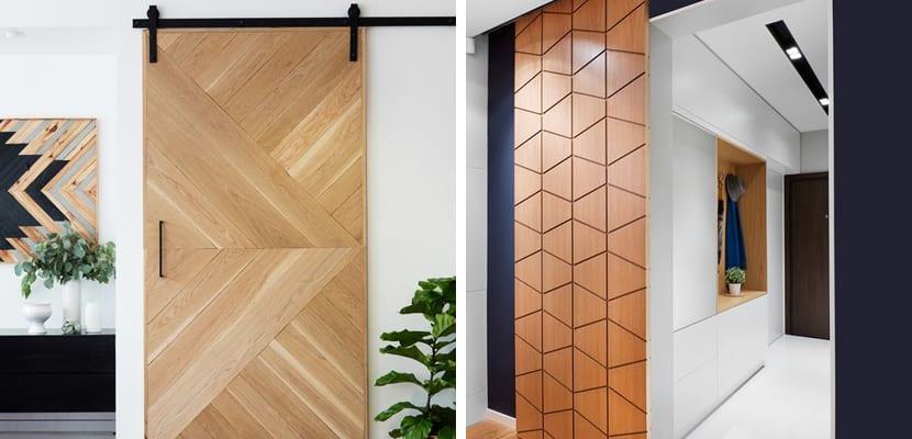 Estilos de puertas correderas for Estilos de puertas de madera
