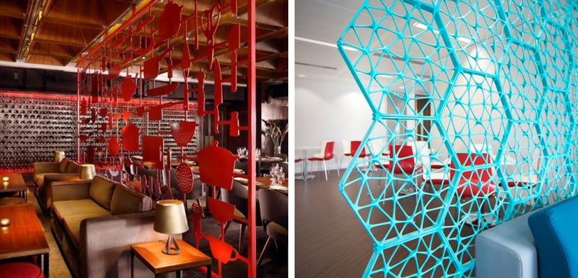 Separación de espacios con estructuras metálicas