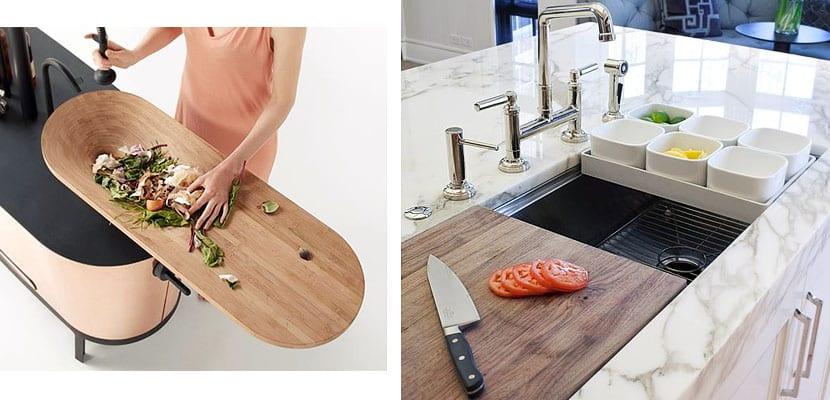 Tablas de cocina integradas