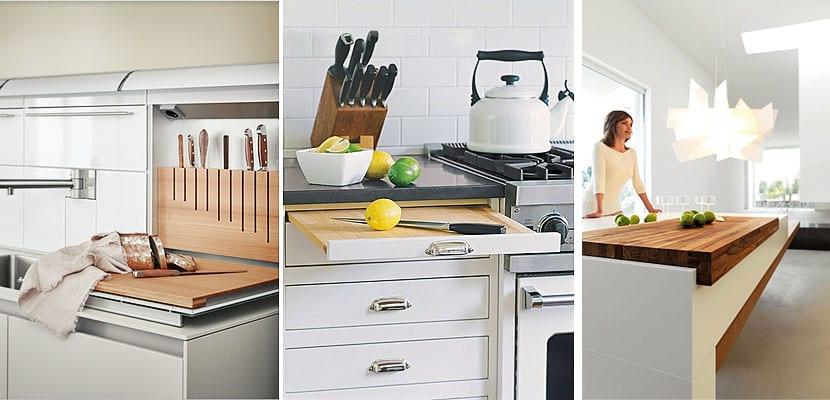 Tablas de cortar integradas en la cocina - Cocinas integradas ...