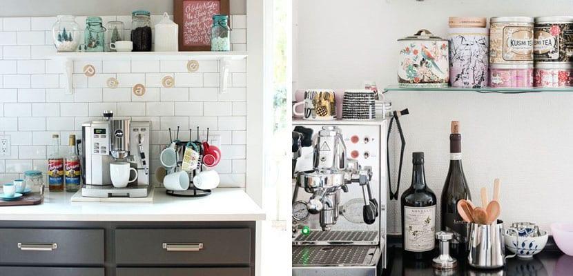 Zona de café en la cocina
