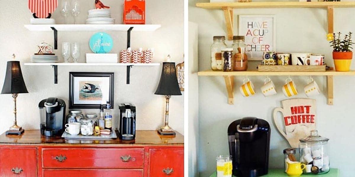 Mueble vintage para zona de café