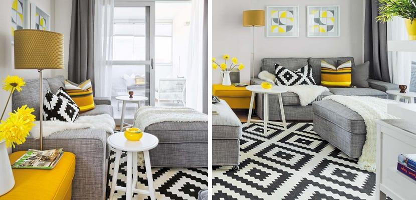 Apartamento decorado con muebles de ikea for Decoracion de salones ikea