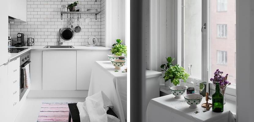 Apartamento en tonos blancos