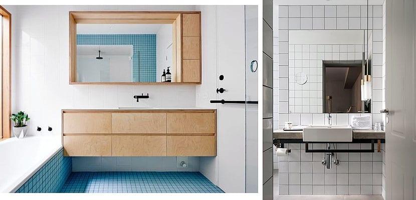 Azulejos de ba o cuadrados con juntas negras - Juntas azulejos ...