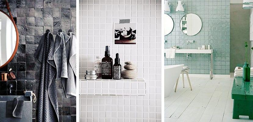 Azulejos de baño cuadrados