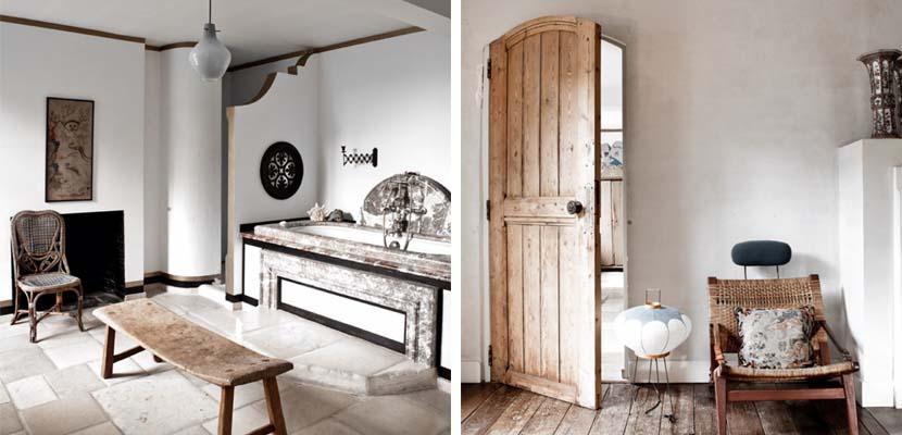 Casa vintage con madera