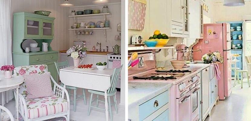 Tonos pastel en la cocina