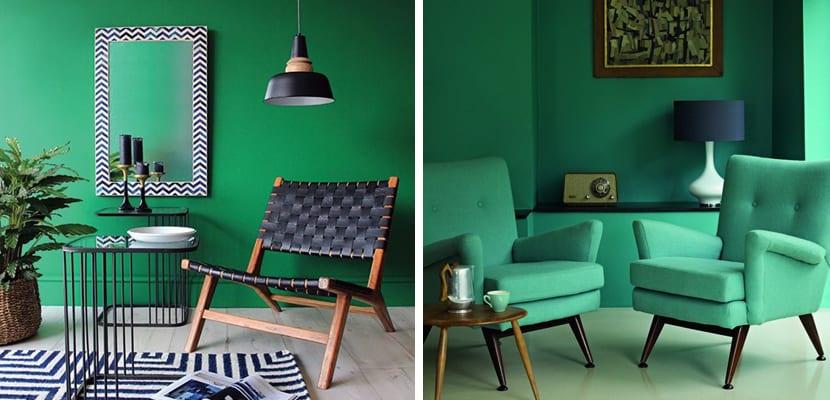 Color verde en la decoración
